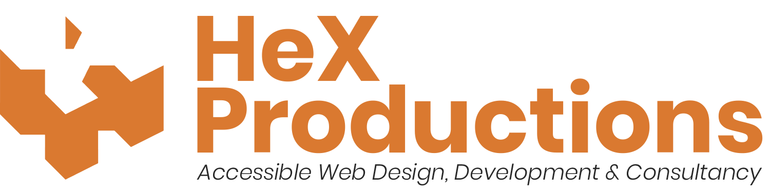 Logo with url link for Hex Productions