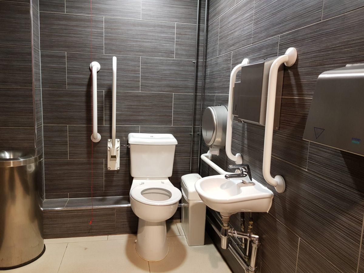 Toilet near screen 3