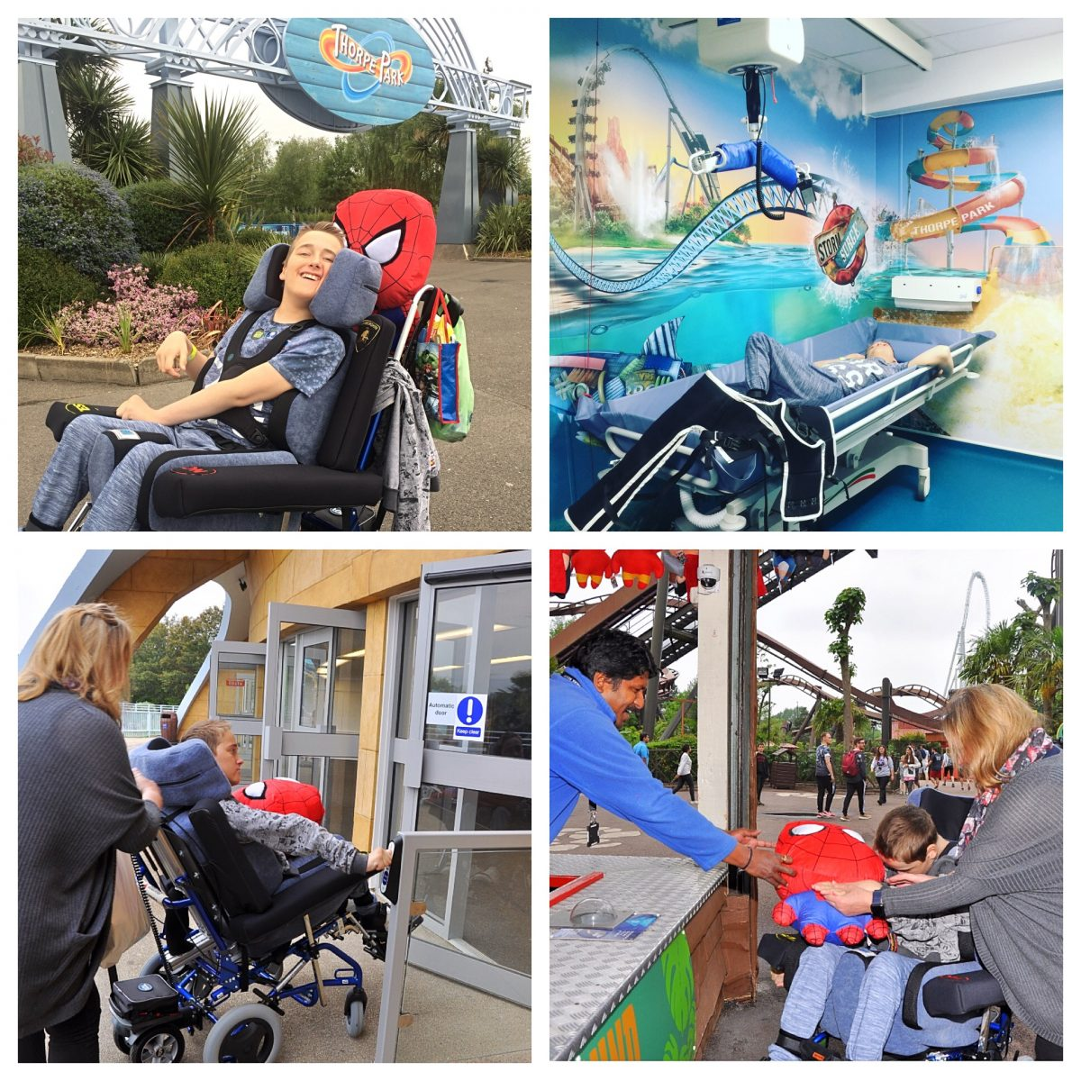 Assisted doors with a switch Level access Changingplace toilet  Only one ride 4D Angry birds but wheelchair users on