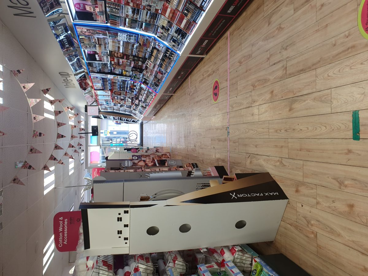 Aisles made narrow by excess clutter