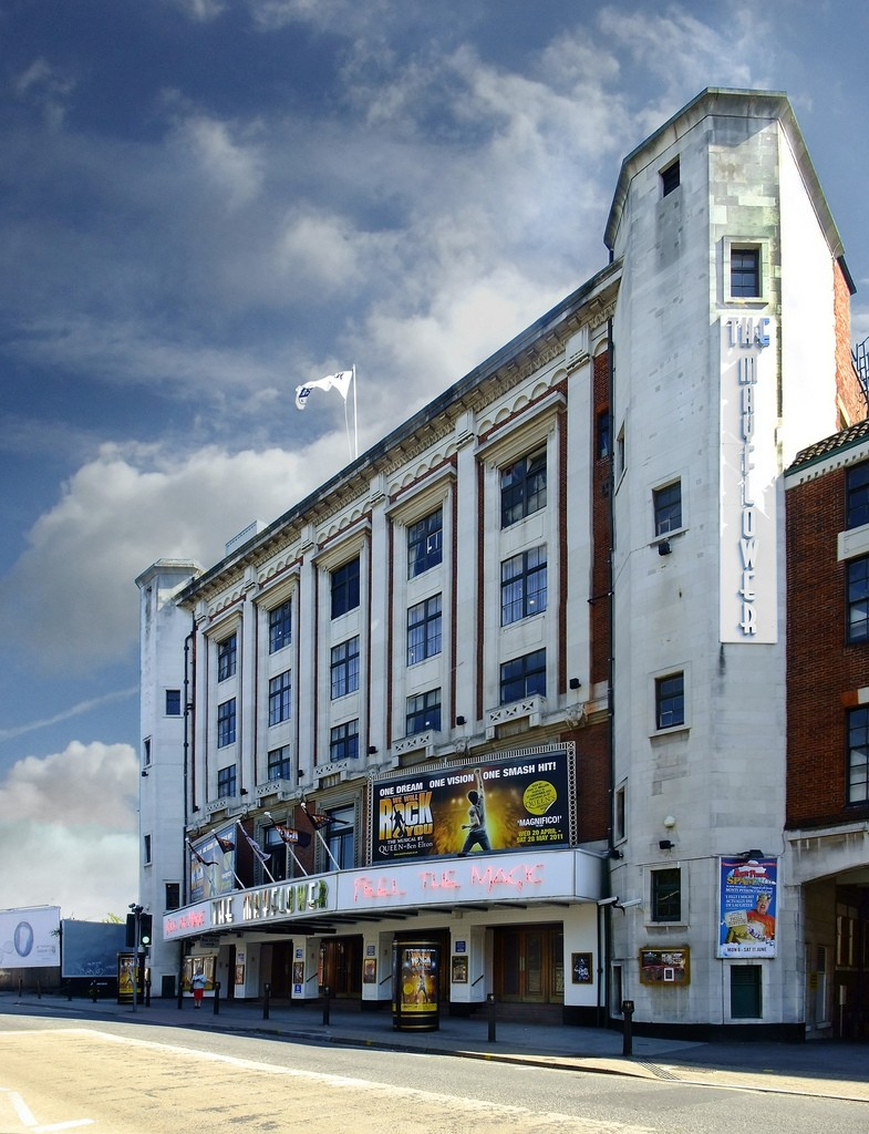 This is the frontage of the Mayflower Theatre